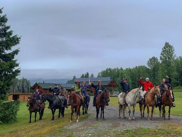 Horseback riding in Northern BC