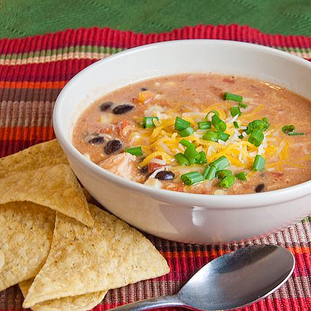Quick Chicken Enchilada Soup