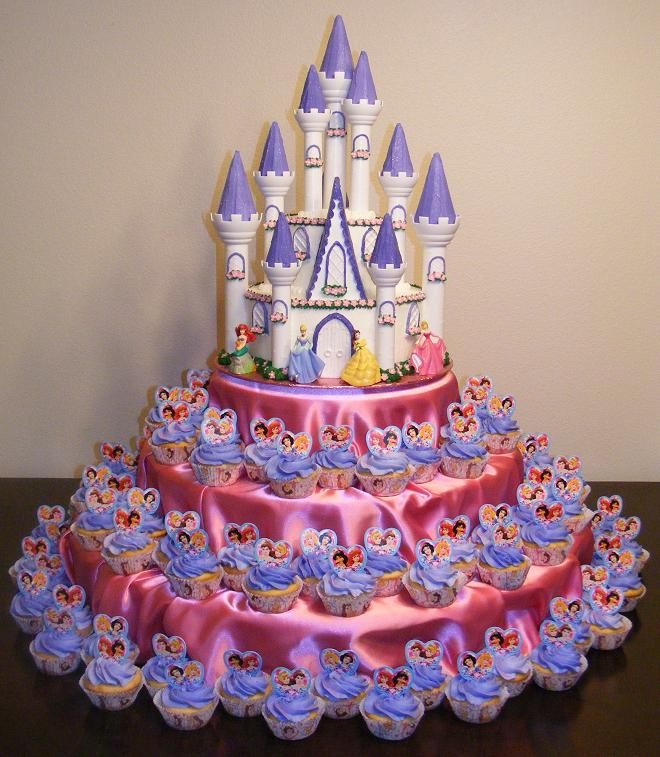 Princess Birthday Cupcake Cake