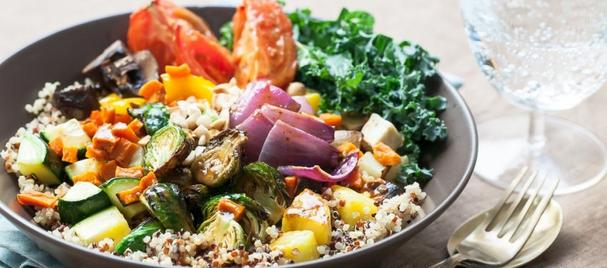 roasted vegetable buddha bowl