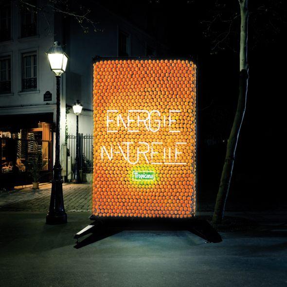tropicana orange billboard