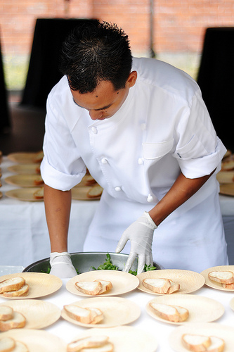chef plating food