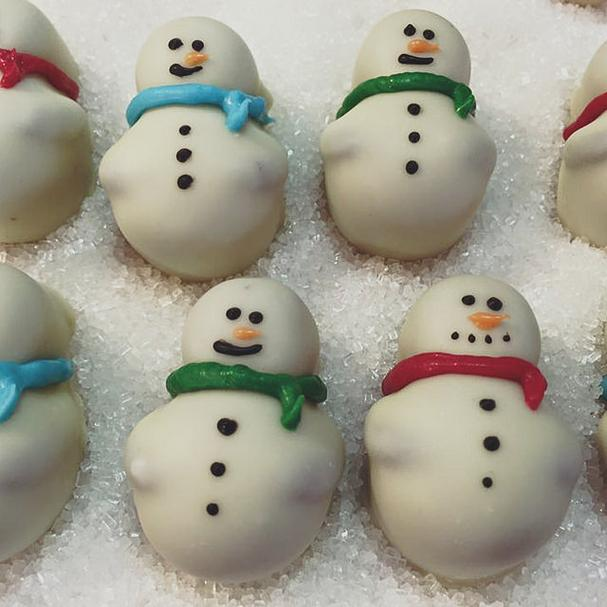 Snowman candy from Bruce's Candy Kitchen