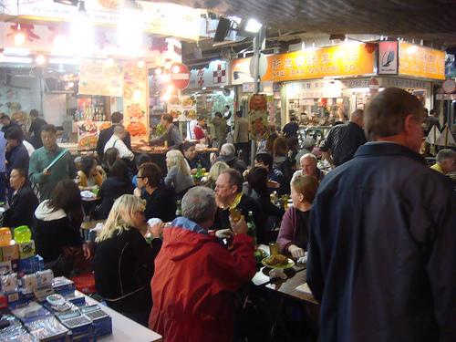 Crowded Restaurant Scene