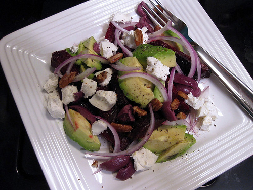 Beetroot Salad With Sheepas Cheese And Olives Recipe — Dishmaps