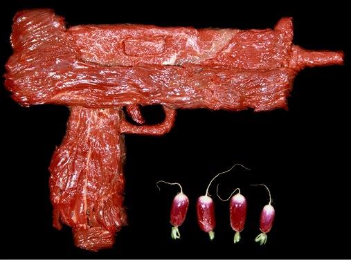 raw meat handguns