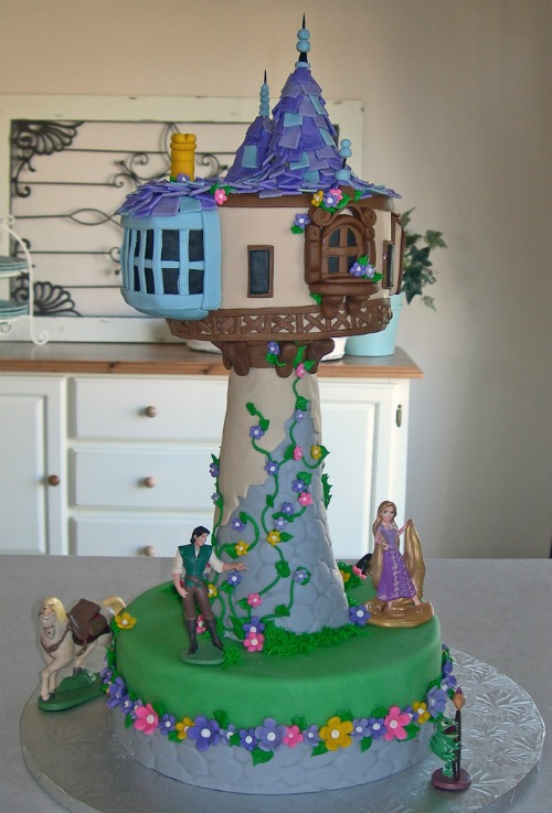 Foodista Let Your Hair Down With The Tangled Tower Cake
