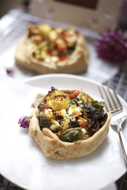 Roasted Vegetable Galette Tart