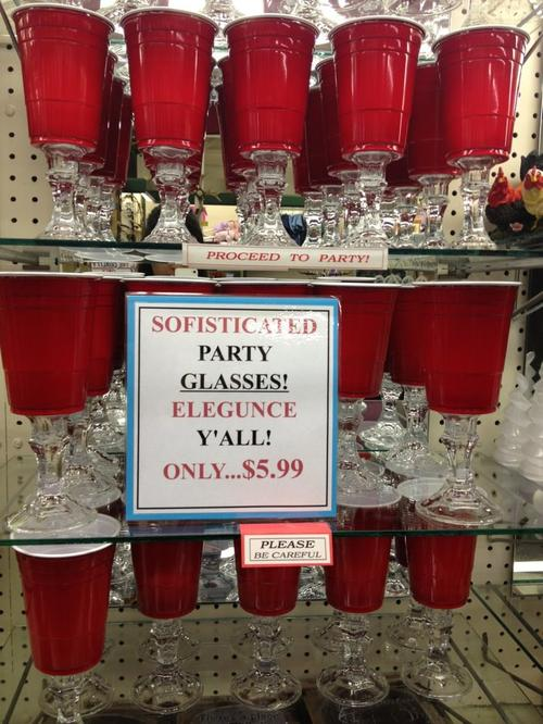 sofisticated party glasses
