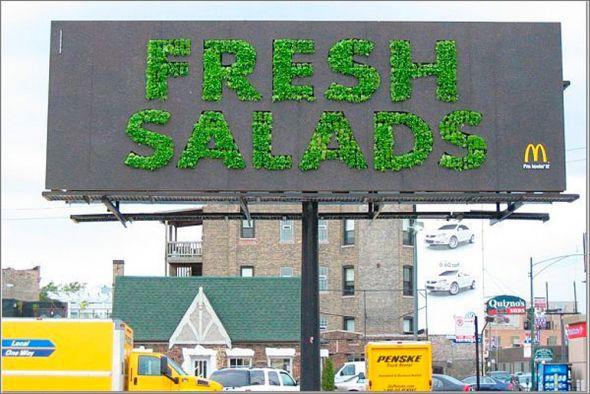 fresh salads billboard