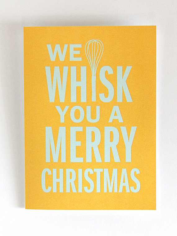 We Whisk You A Merry Christmas Greeting Cards from DapperPaper on Etsy