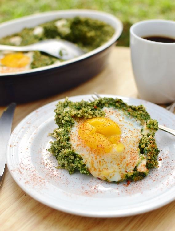 Easy Sponach Quinoa Breakfast