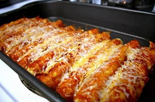 Vegetable, Bean and Cheese Enchiladas