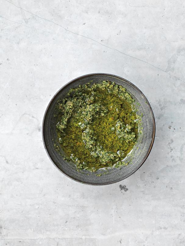 Herb Stem Salsa Verde
