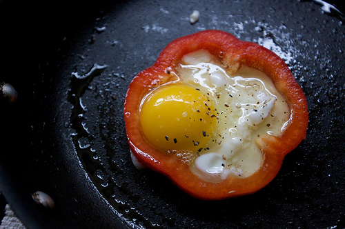 Egg in a Bell Pepper Basket
