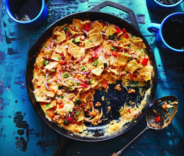Chilaquiles Breakfast Skillet