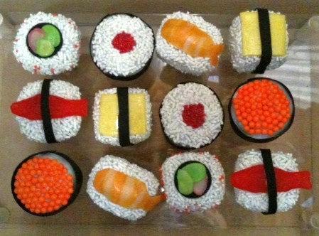 sushi cake pops