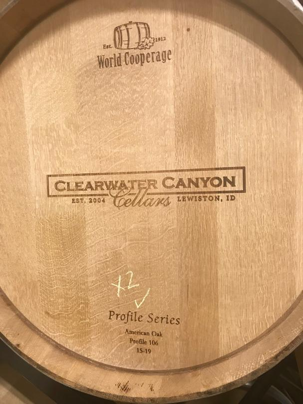 Clearwater Canyon Cellars wine barrel