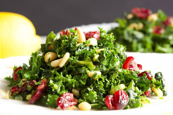 Kale Salad with Honey Lemon Vinaigrette