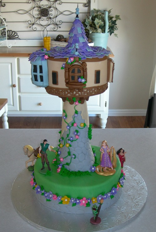 Rapunzel Tower Birthday Cake