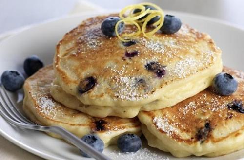 Lemon Ricotta BBlueberry Pancakes