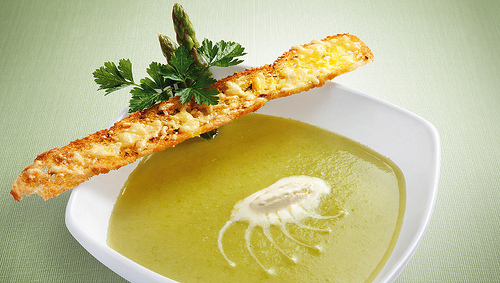 Gluten Free Cream of Asparagus Soup