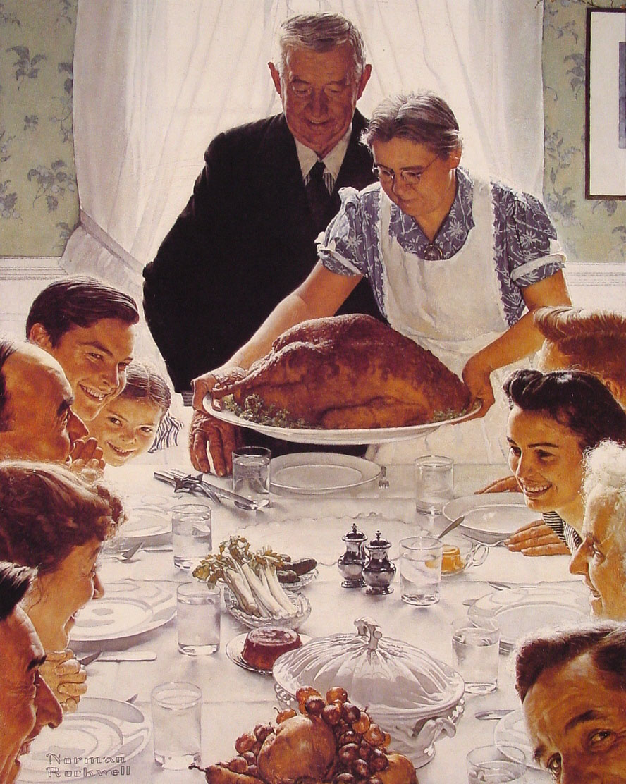 "Norman Rockwell's ""Freedom from Want"" (1943)"