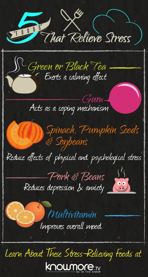 Foodista Infographic De Stress With The Help Of These 5