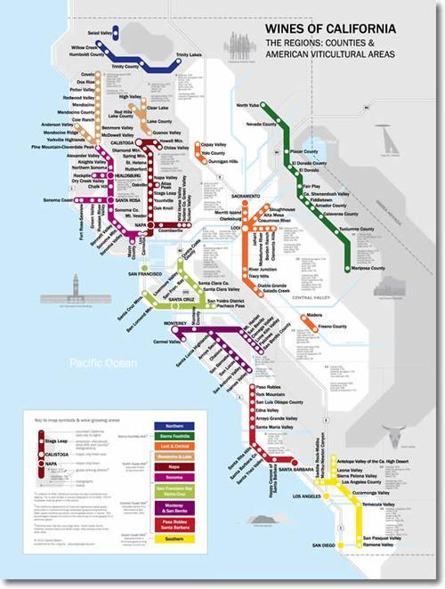 metro wine map california