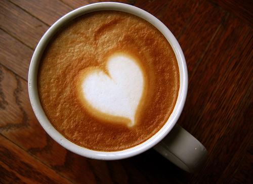 Coffee Art Heart Latte
