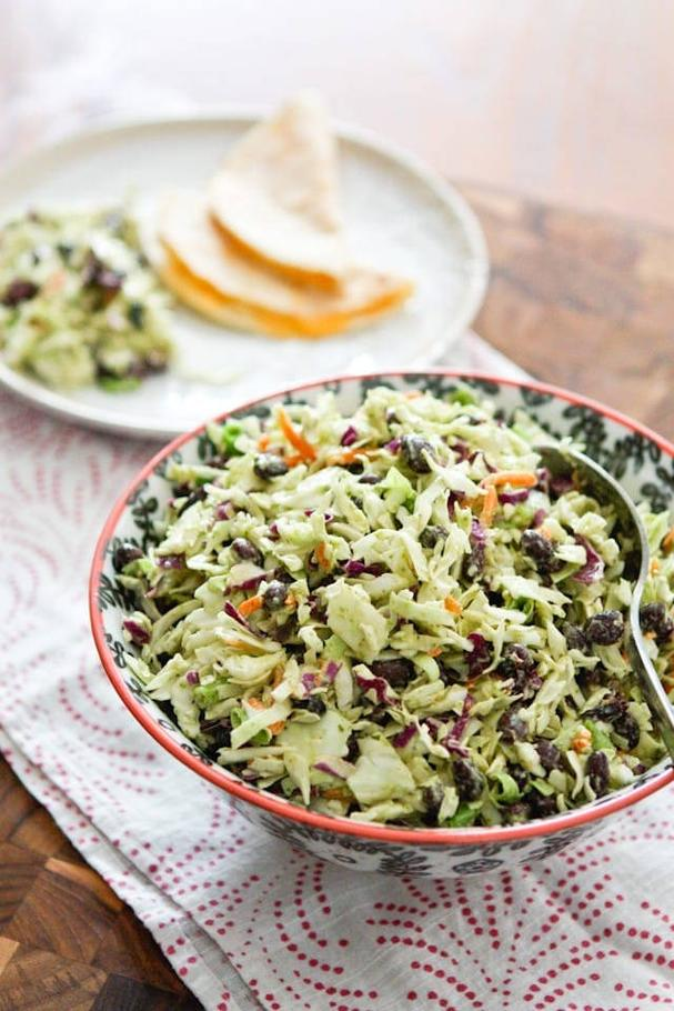 Mexican Coleslaw with Black Beans
