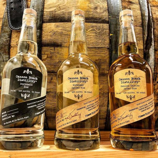 Cannon Beach Distillery spirits