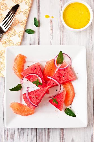 Watermelon Grapefruit-Mint Salad