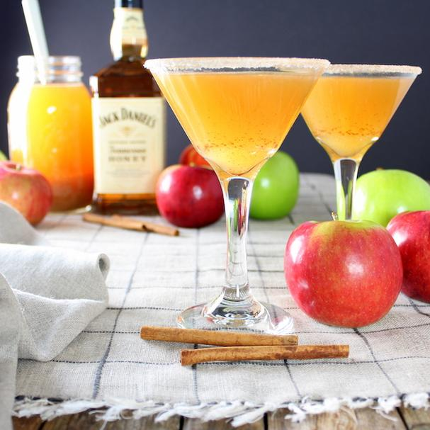 Apple Cider Honey Jack Whiskey Martini