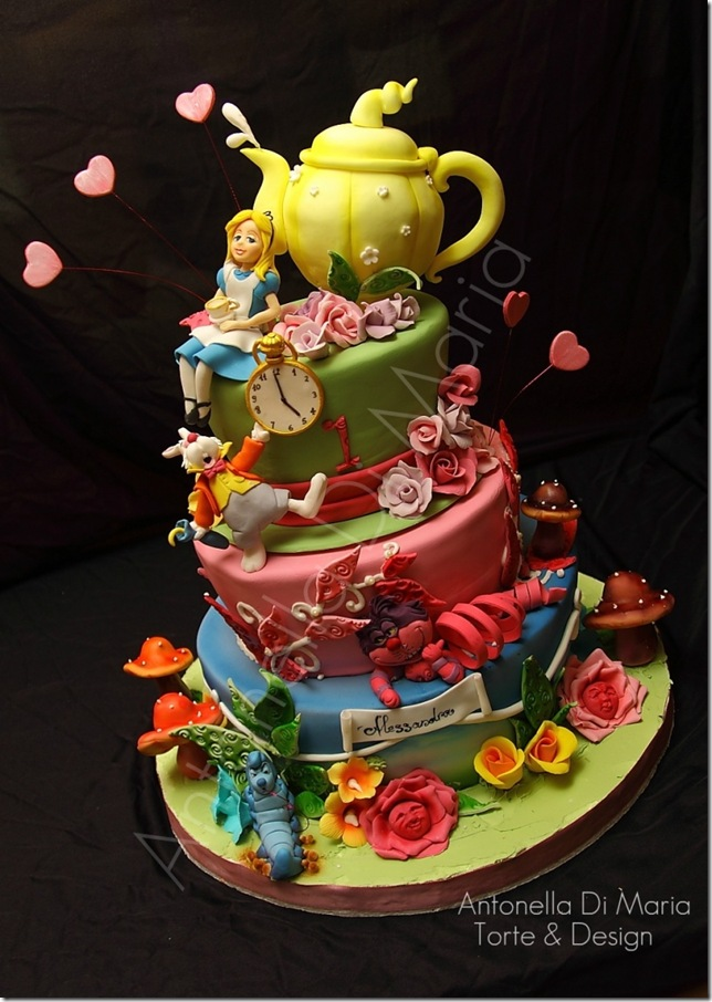 Foodista | Topsy Turvy Alice in Wonderland Cake