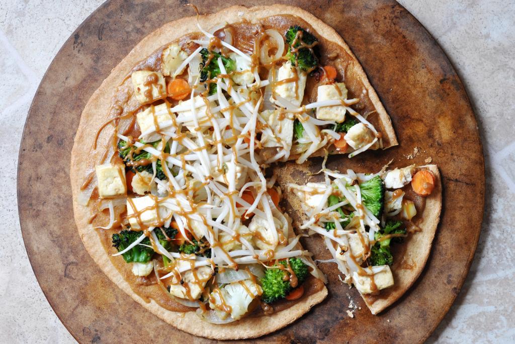 Tasty Kitchen Thai Chicken Pizza