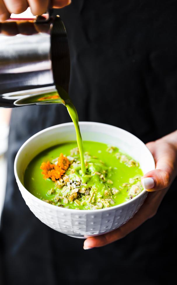 matcha green tea latte oatmeal