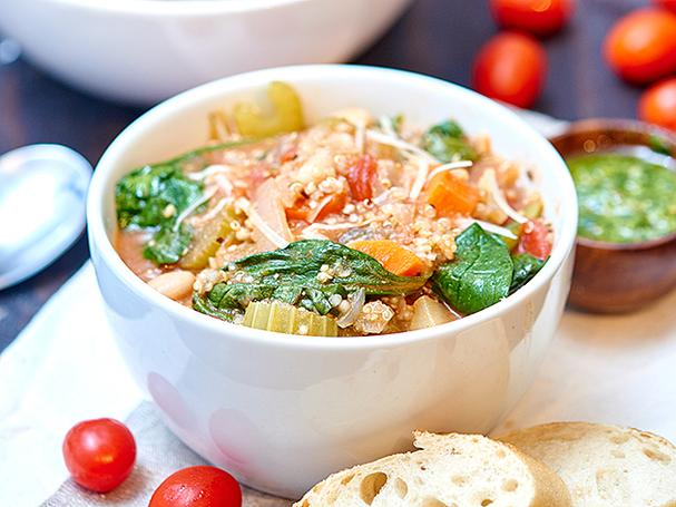 The Best Quinoa Minestrone Soup