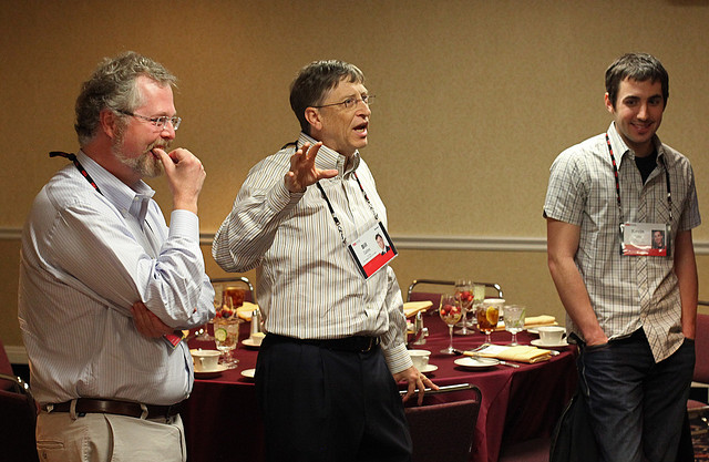Myhrvold with his former boss Bill Gates