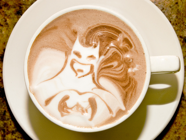 Batman Coffee Art