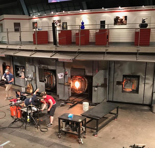 Chihuly glass Hot Shop Team