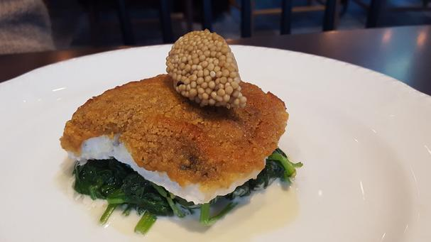 gruyere encrusted turbot